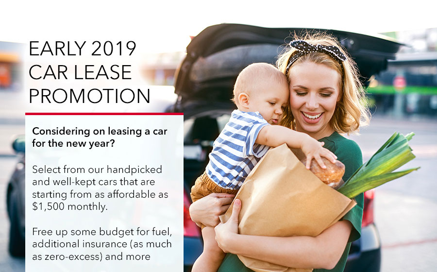Early 2019 Car Lease Promotion