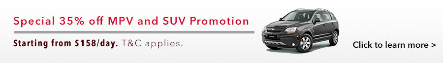 Special 35% off MPV and SUV Promotion